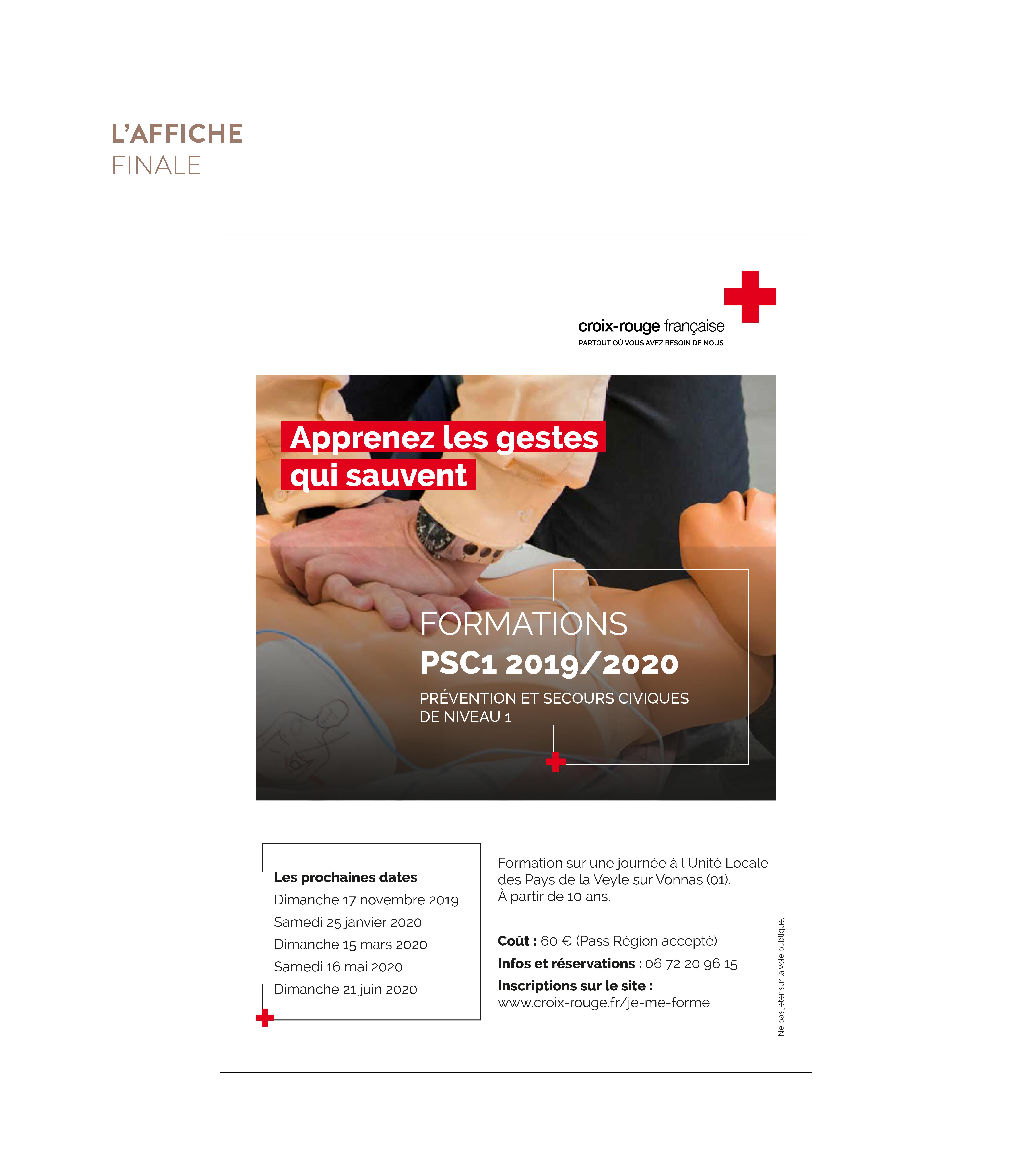 Croix Rouge Française - Création d'une affiche